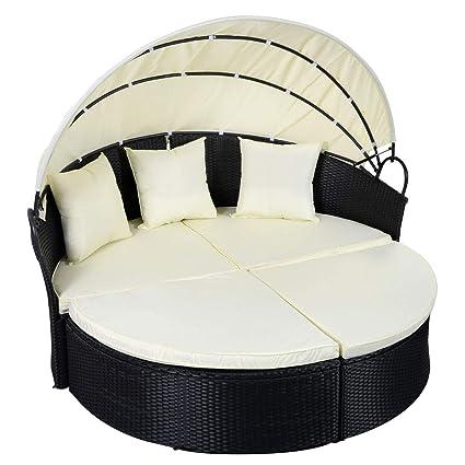 Amazon.com: Heavens Tvcz Patio Sofa Furniture Round Daybed ...