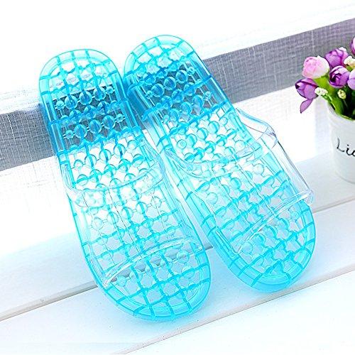 deslizadores con las amantes Los que bañan verano zapatillas baño con de plásti cristalinas B gruesos se deslizadores antideslizantes los Cuarto Cómodo las Zapatillas masaje de frescas femenina Casa del wqZnt7