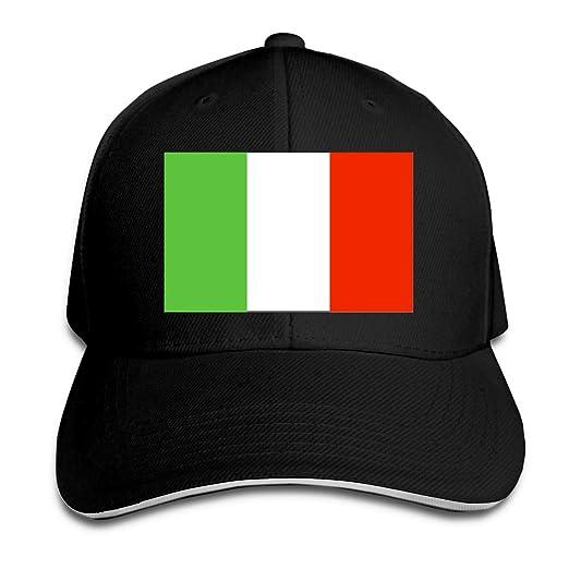 SUNSY Italian Flag Cap for Women Or Men b3f46b86661