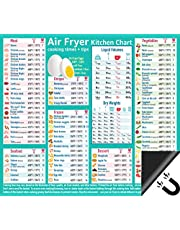 """Air Fryer Accessories Air Fryer Cooking Times All In One Magnet Accurate Perfect Instant Guide Big Text Easy To Read Healthy Cheat Sheet Chart 10""""x9"""" Kitchen Gift Recipe Cookbook"""