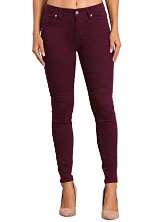 0b59756755e Amazon.com  Celebrity Pink Women s Mid Rise Colored Skinny Double Side Seam  Ankle Pants  Clothing