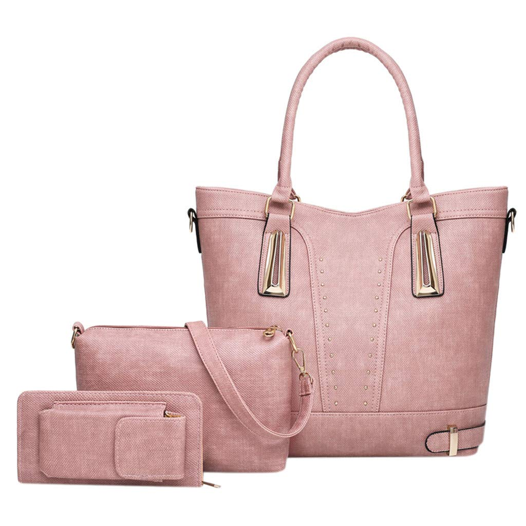 Seaintheson Womens Fashion Crossbody Bags,Travel Backpack Portable Makeup Handbag Vintage Shoulder Bags Purse 3pcs by Seaintheson