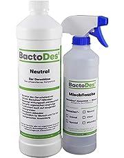 BactoDes Neutral 1l, Tiergeruch Geruchtsentferner Konzentrat inkl. Spray Mischflasche, Geruchsneutral