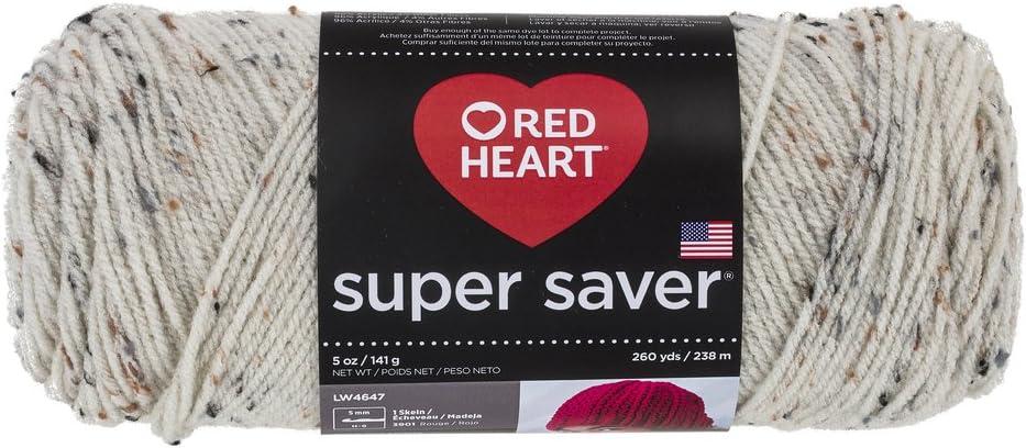 RED HEART Super Saver Yarn, Aran Fleck