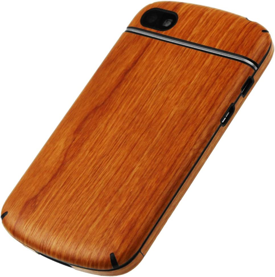Full Coverage TechSkin with Anti-Bubble Clear Film Screen Protector Skinomi Light Wood Full Body Skin Compatible with BlackBerry Q10