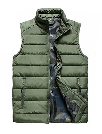 Amazon.com: Vcansion Men's Lightweight Casual Vest Jacket Coat ...
