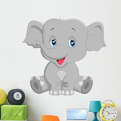 Amazon.com: Lindo bebé elefante dibujos animados calcomanía ...