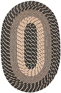 product image for Constitution Rugs Plymouth Round Braided Rug in Black Sand 8' Round Made in New England