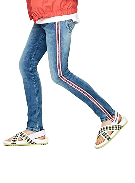 Pepe Jeans Pantalon Vaquero Pixlette Ribbon Nina: Amazon.es ...