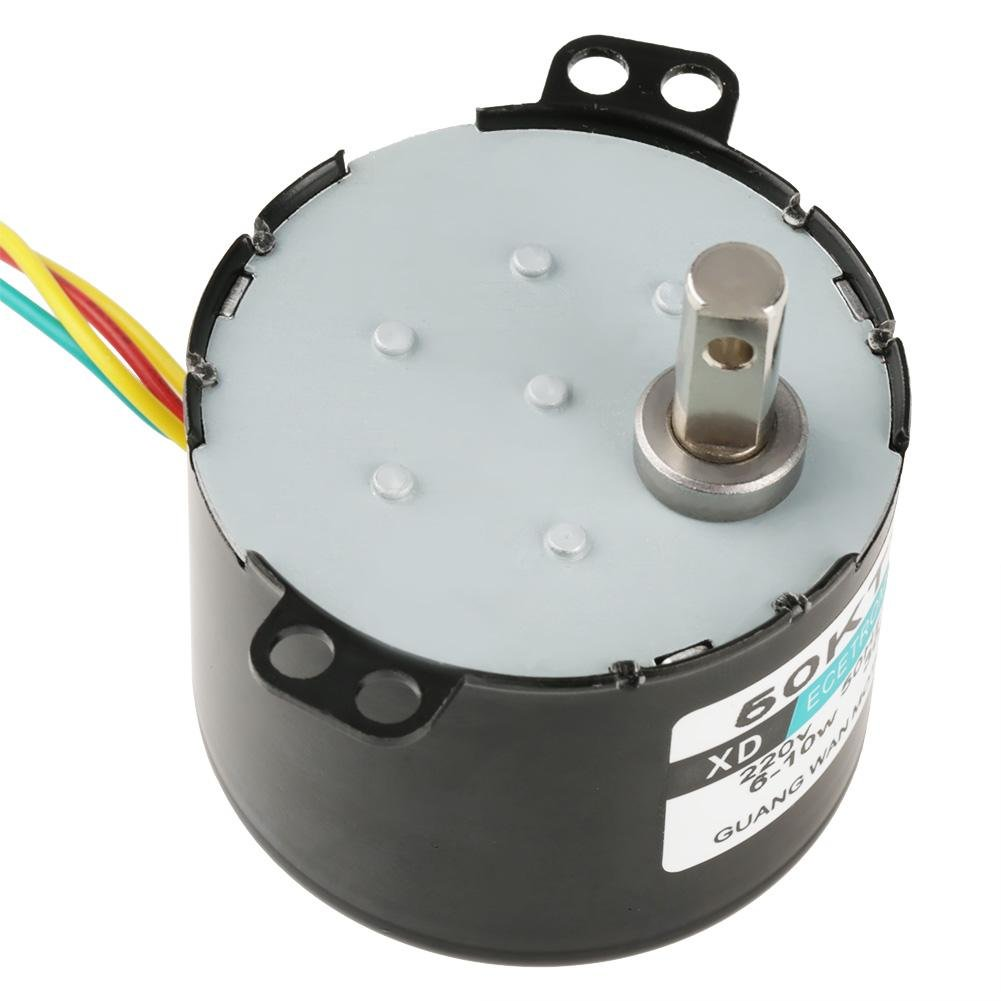 50KTYZ AC 220V 6-10w Miniature Permanent Magnet Synchronous Motor CW/CCW Low Speed High Torque Electric Motor (30RPM)
