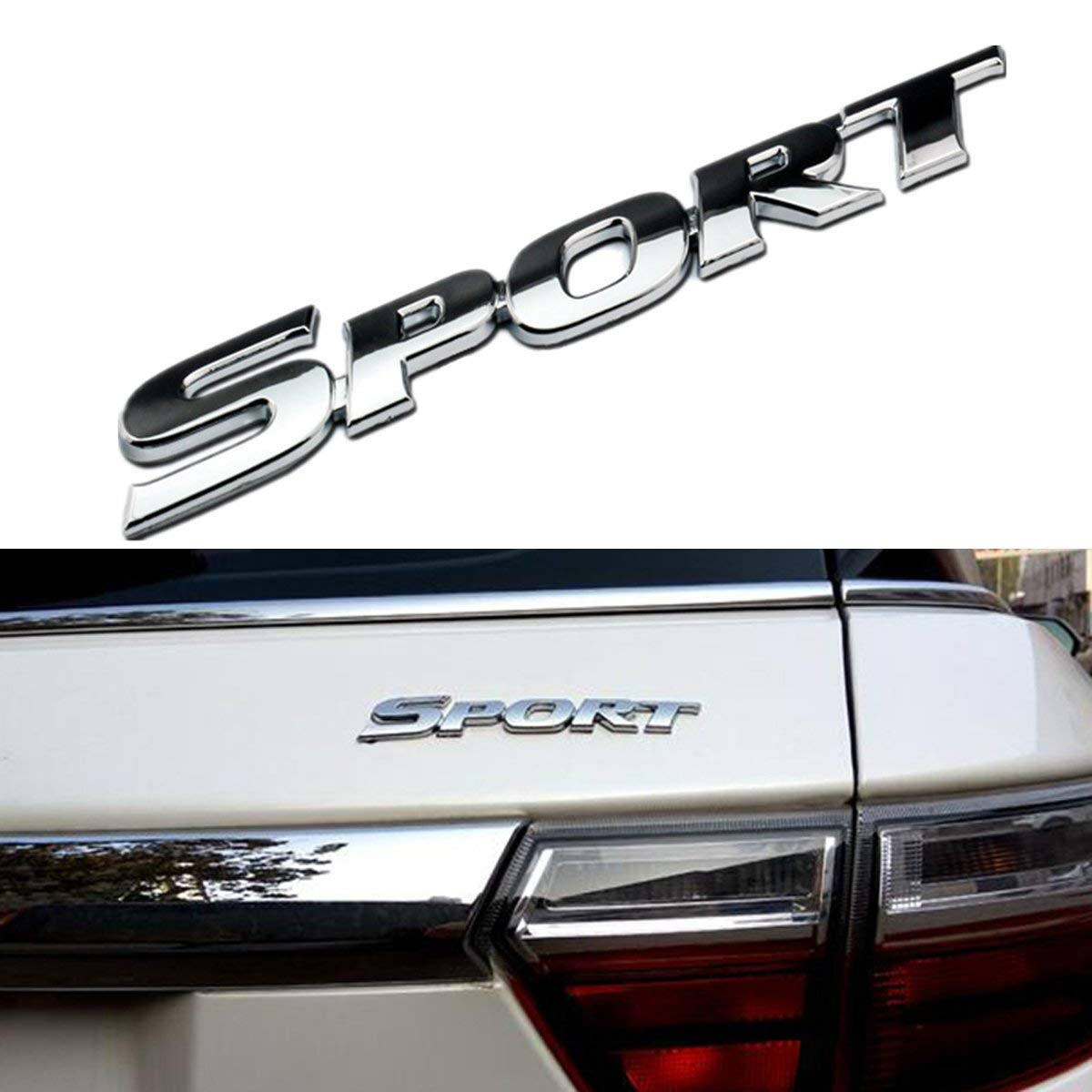 Boot Orthodox black Wesport 3D Metal SPORT Premium Car Side Fender Rear Trunk Emblem Badge Decals for Any Clean Flat Surface Etc Boor Body vehicle