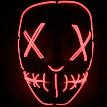Fansport Máscara De Halloween Máscara Ligera De Fiesta Creative LED Light Up Mask Máscara De Cosplay para La Navidad De Halloween: Amazon.es: Deportes y ...