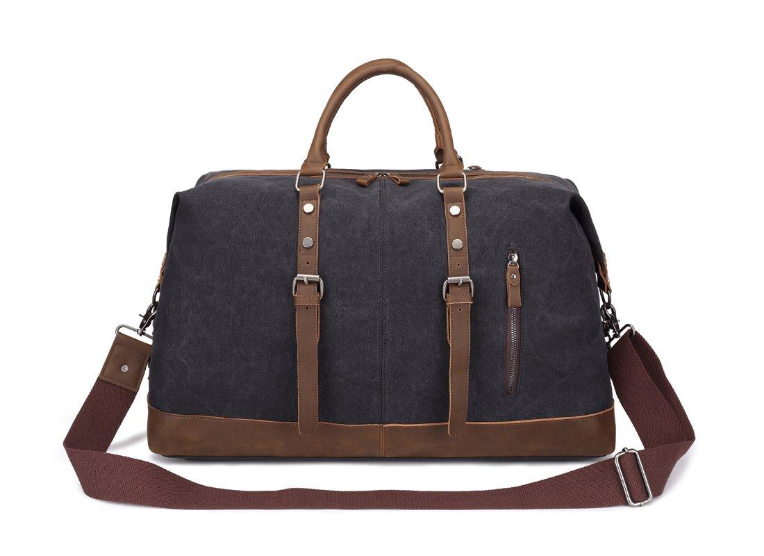 Weekend Bag Weekender Overnight Bag Canvas Vintage Travel Duffle for Men Women