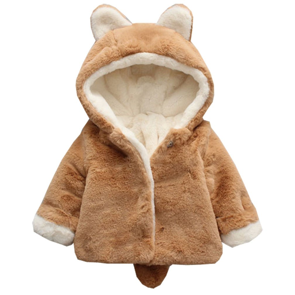 DORAMI Baby Girls Winter Autumn Cotton Warm Thick Cotton Jacket Coat
