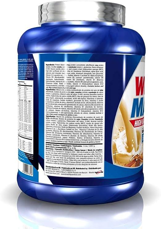 Quamtrax Whey Matrix Sabor Vainilla y Canela- 2267 gr