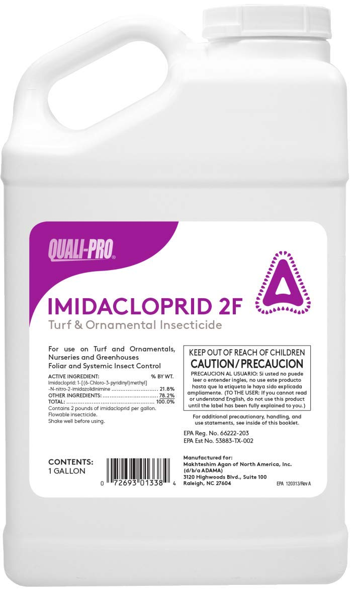 Quali-Pro Imidacloprid T&O 2F Insecticide - Control Pests in Turfgrass and Landscape Plantings (1 Gallon) by Quali-Pro