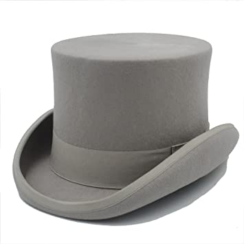 504688065e1 SAN QIAN WAN- Steampunk Mad Hatter Top Hat Victorian Vintage Traditional  Wool Fedoras Hat Cylinder
