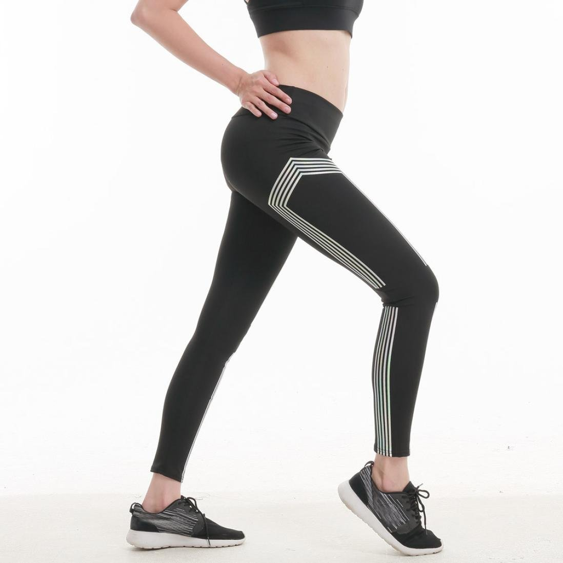 Pantalones Yoga Mujeres, ❤️Xinantime Polainas de fitness de yoga de cintura alta de mujer Running Gym Stretch Sports Pants Pantalones Brillará: Amazon.es: ...