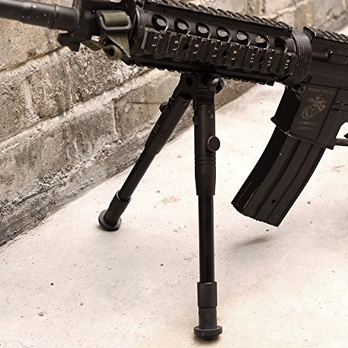 Picatinny Adjustable Spring Return Sniper Hunting Rifle Bipod Metal Mount SWAT by Gazelle Trading (Image #3)