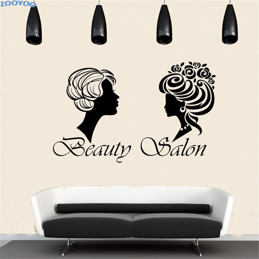 yiyiyaya Salón de Belleza Etiqueta de la Pared Dos Pelo Mujeres ...