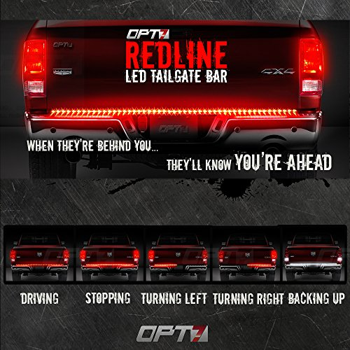 Amazon 60 redline led tailgate light bar tricore led amazon 60 redline led tailgate light bar tricore led weatherproof rigid aluminum no drill install full featured reverse running brake turn mozeypictures Images