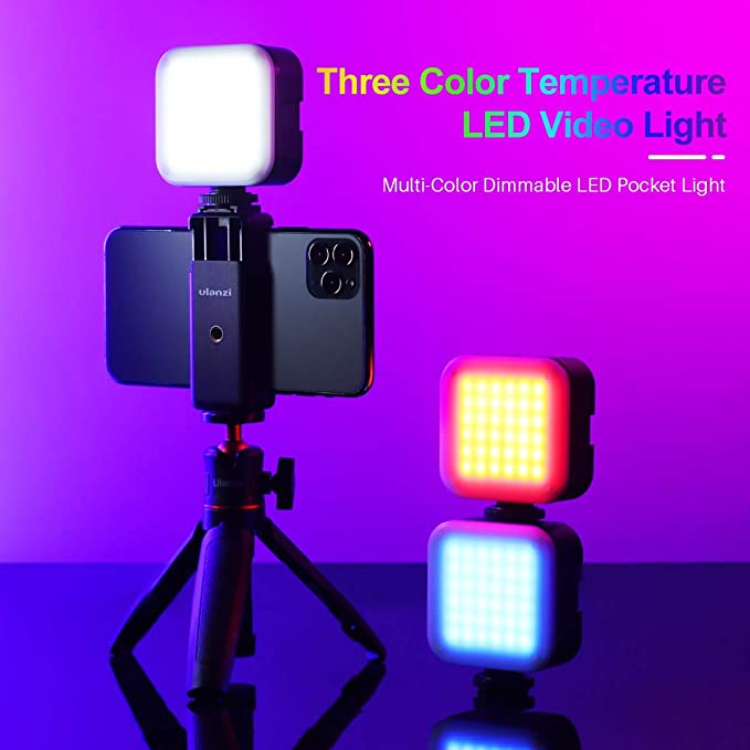 Luz Videoconferencia TIKTok Streaming Iluminaci/ón de Zoom para Laptop Luz Tik Tok para Monitor para Video Calls Selfie Youtube Maquillaje ULANZI Luz de Video Led con 3 Colores Regulables