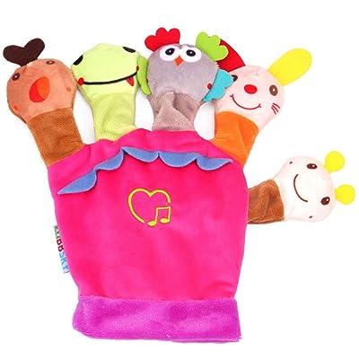 AimdonR - Guantes de Peluche para muñeca de Animales, con Reloj Musical, diseño de muñeca, Contador de Historias, Padres, niños: Hogar