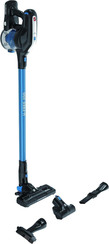 Hoover H-Free 200 HF222UPT Aspiradora Escoba sin Cable, Ciclónica, Pelo de Mascota, Cepillo Suelos Duros, Batería extraíble Litio 22V, 40min, 0,7L, Luces LED, 2 velocidades, 22 W, Negro/Azul