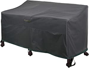 """Leader Accessories Heavy Duty Patio Deep Bench Loveseat Cover Waterproof Outdoor Sofa Cover Lawn Patio Furniture Covers with Air Vents, Dark Grey (58"""" Lx 32.5"""" D x 31"""" H, Grey)"""