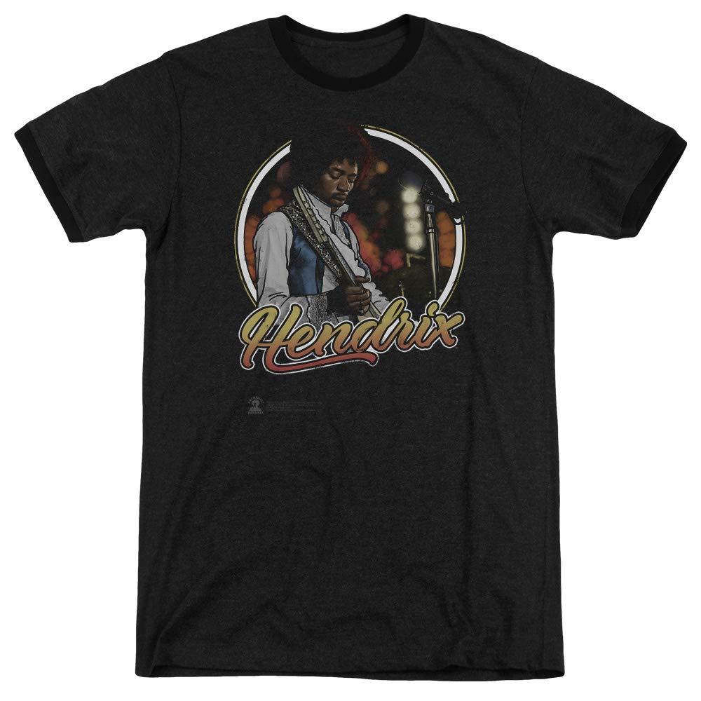 Jimi Hendrix Ringer Tshirt In Concert Black Tee