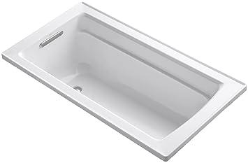 KOHLER K-1123-0 Archer 5-Foot Bath, White - Freestanding Bathtubs ...