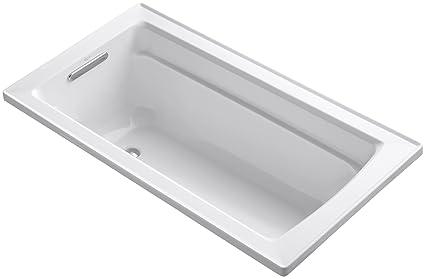 Kohler K 1123 0 Archer 5 Foot Bath White Freestanding Bathtubs