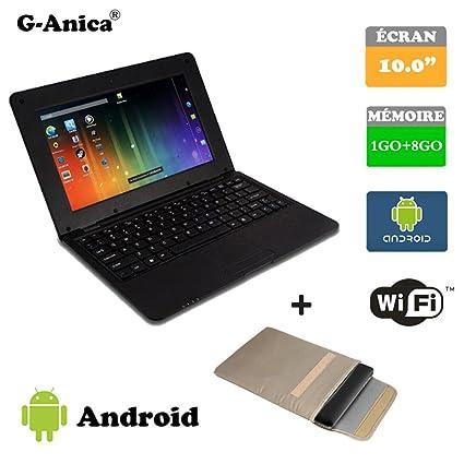 """G-Anica Ordenador portátil de 10.1""""(WiFi, 1.5GHz 1GB de RAM"""