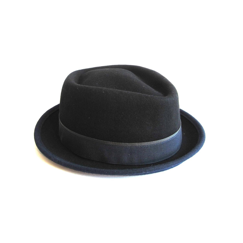 88a2e87596345c Dasmarca Mens Crushable & Packable Wool Felt Pork Pie Hat at Amazon Men's  Clothing store: