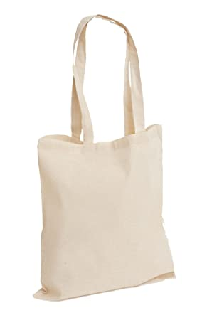 0cf245090 Image Unavailable. Image not available for. Colour: Pack of 10 Premium  Plain Natural Cotton Shopping Tote Bags ...