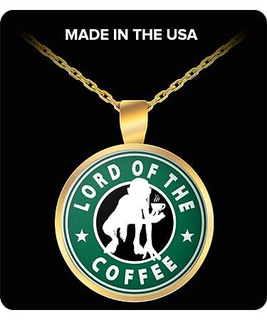 Amazon Com Unisex Jewelry Lotr Coffee Pendant Necklace Gold Indian
