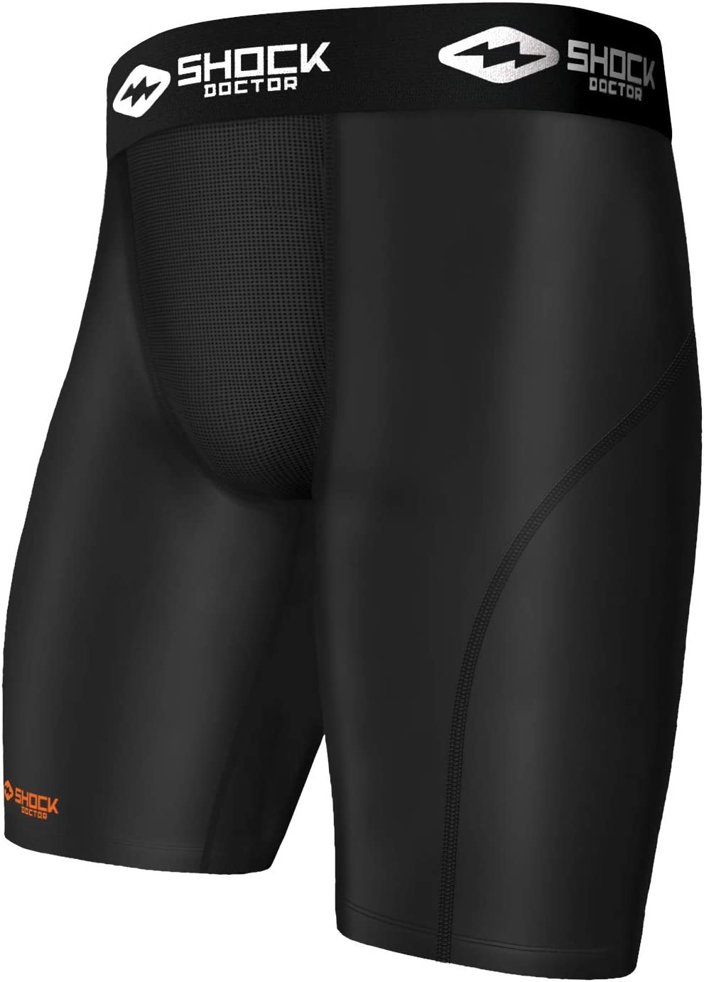 Shock Doctor Compression Shorts with Cup Pocket. Athletic Supporter Underwear with Pocket (Cup NOT included) Youth & Adult