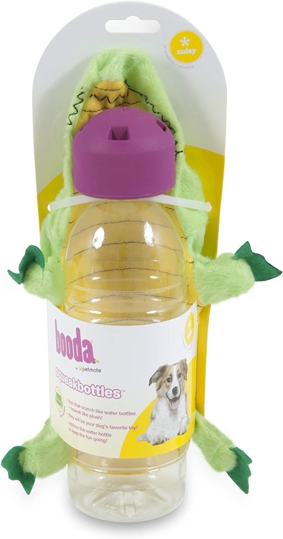 Petmate 54199 Squeakbottles Gator Dog Toy, Green