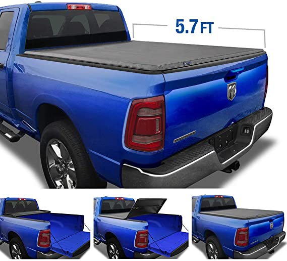 Tyger Auto TG-BC3D1044 T5 Alloy Hardtop Black 5.7' Bed (Soft-Top) 2019-2020 Ram 1500 New Body Style Without RamBox Multifunction Tailgate or Utility Rails Truck Tonneau Cover