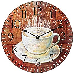 La Crosse Technology 404-2631C 12 Round Coffee Decor Analog Wall Clock