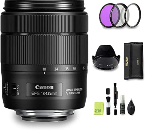 GYTE Bundle | Objetivo Canon - EF-S 18-135 mm f/3.5-5.6 IS USM ...