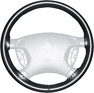 product image for Wheelskins Genuine Leather Black Steering Wheel Cover Compatible with Toyota Vehicles -Size C