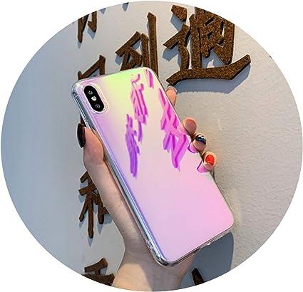 Coque de Protection en TPU Souple Effet Miroir Laser pour iPhone X ...