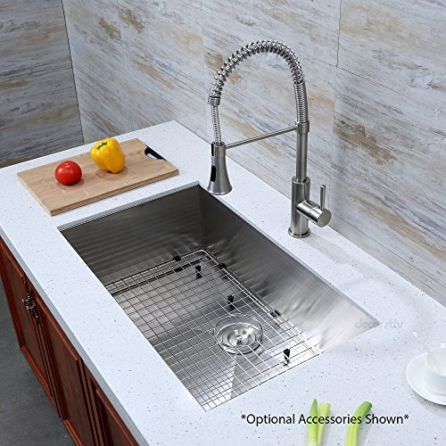 Decor Star H-001-Z 32 Inch x 19 Inch Undermount Single Bowl 16 Gauge Stainless Steel Luxury Handmade Kitchen Sink cUPC Zero Radius by Decor Star (Image #3)