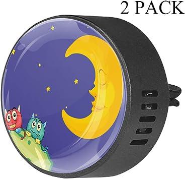 Luna De Dibujos Animados Púrpura Clip de ventilación de difusor de ...
