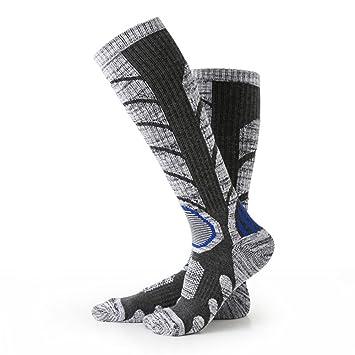 Nexlook Calcetines para hombre de esquí, Escalada Outdoor Snowboard, Medias de algodón para deportes de invierno (L 35-39) Gris: Amazon.es: Deportes y aire ...
