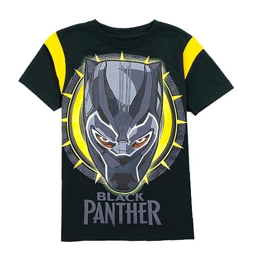 52c60a5b Amazon.com: Marvel Black Panther Boys T-Shirt, Black/Yellow, Size 18/20:  Clothing