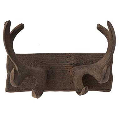 Comfify Vintage Cast Iron Deer Antlers Wall Hooks by Antique Finish Metal Clothes Hanger Rack w/Hooks | Includes Screws and Anchors | in Rust Brown | (Antlers Hook CA-1507-24)