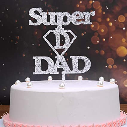 Strange Super Dad Cake Topper For Fathers Day Gift Dad Birthday Cake Personalised Birthday Cards Paralily Jamesorg