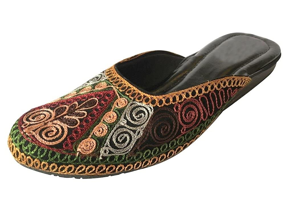 Step n Style Punjabi Jutti Indian Shoes Flip Flop Khussa Shoes Flat Ethnic Sandals DD627